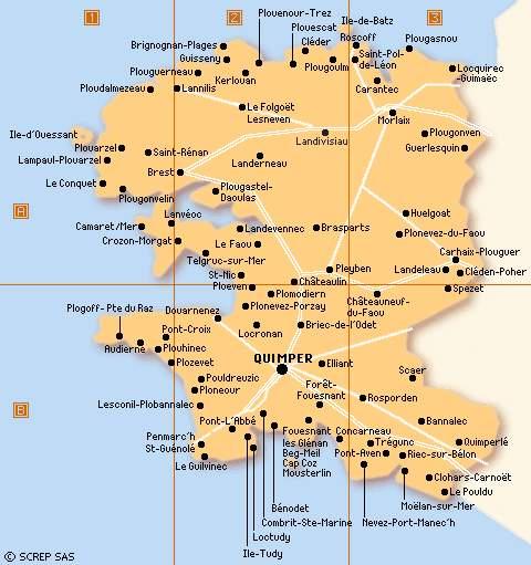 Les cartes du Finistère