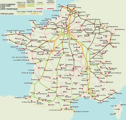 carte de france ferroviaire